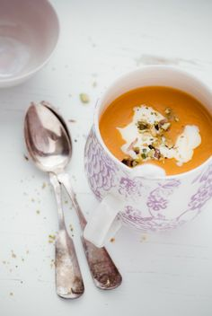 Carrot & Parsnip Soup with Honey Hazelnut Cornbread | Oh yum!