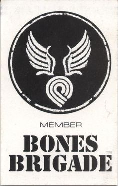 Powell Peralta Bones Brigade membership card from 1990 (front side)