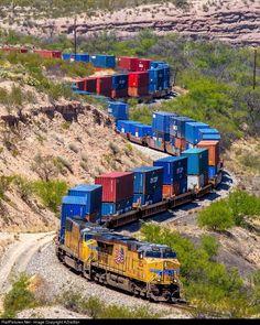 RailPictures.Net Photo: UP 7434 Union Pacific C45ACCTE at Vail, Arizona by AZrailfan