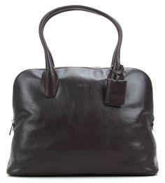 Chicago 2 12'' Handtasche Leder dunkelbraun 40 cm