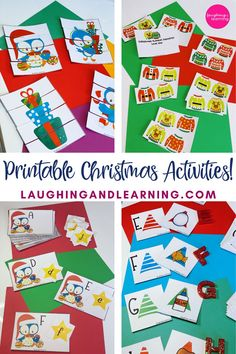 Tis the season! These Christmas themed printable activities are a perfect addition to any classroom, learning environment, or homeschool classroom! #preschoolactivities #letterrecognition #christmasprintableactivities #christmasprintables #kindergartenactivities #beginningsounds #printableactivities  #literacyactivities #preschoolliteracycentre #printableliteracyactivitiy #printableliteracyactivities #education #printableactivitiesforkids #printablemathactivities Christmas Printable Activities, Christmas Activities For Kids, Christmas Themes, Preschool Literacy, Kindergarten Activities, Alphabet Activities, Educational Activities, Learning Environments, Homeschool