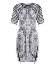 Love this Black & Ivory Stripe Sweater Dress on #zulily! #zulilyfinds