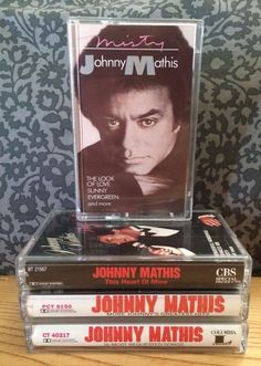 """Lot of 4 #JohnnyMathis #Cassette #Tapes - """"This Heart of Mine"""", """"Misty"""", """"More Johnny's Greatest Hits"""" and """"16 Most Requested Songs"""""""