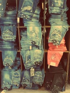 Cowgirl Jeans to go with all those cowgirl boots ;)