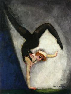 Kees Van Dongen [Dutch Fauvist Painter, l'Equilibriste - circa 1907 oil on canvas Monte Carlo, Art Fauvisme, Art Du Cirque, Maurice De Vlaminck, Raoul Dufy, Van Gogh Museum, Dutch Painters, Art Prints For Sale, Oil Painting Reproductions