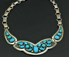 Frank Patania, Sr. sterling silver and turquoise necklace