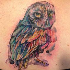 I think I found the perfect owl tat ; Jewel Tattoo, I Tattoo, Stone Tattoo, Tattoo Tree, Owl Tattoo Design, Tattoo Designs, Tattoo Ideas, Kaleidoscope Tattoo, Watercolor Owl Tattoos