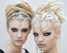 I love this twist on wearing a crown accessory