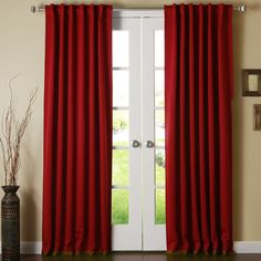 Best Home Fashion, Inc. Blackout Thermal Curtain Panels Color: Cardinal Red