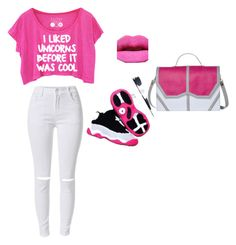 """Pink bubble gum"" by wimbushmaci on Polyvore featuring beauty and Emeline Coates"