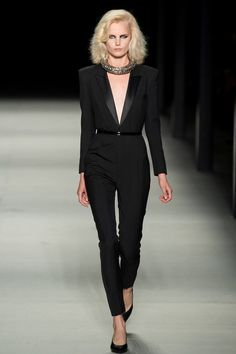 Yay. My all-black wardrobe won't inappropriate this spring. Saint Laurent Spring/Summer 2014