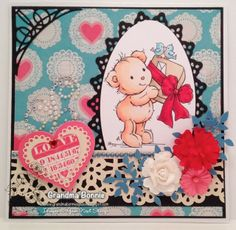 Your Next Stamp Fun Friday Challenge card by Bonnie Kohane featuring A Gift for You - YNS Digital Stamp