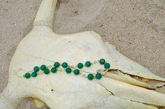 925 silver green  aventurine pearl necklace argento 925 aventurine verdi e  perle di Oxidex su Etsy