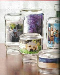 Jars as picture frames. Idea from different solutions Facebook page