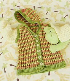 Turning Stone Baby Hoodie :: Free Crochet Cardigan Patterns for Baby Boys! Roundup on Moogly