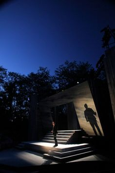 """APT's """"Hamlet,"""" starring Matt Schwader and designed by Takeshi Kata and Andrew Boyce with lighting by Michael A. Peterson, plays at the Up T..."""