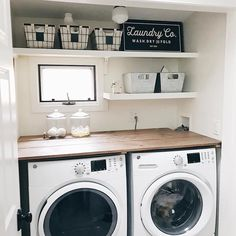 """Check out our internet site for additional relevant information on """"laundry room storage diy shelves"""". It is actually a superb area to find out more. Basement Laundry, Farmhouse Laundry Room, Small Laundry Rooms, Laundry Room Storage, Laundry Room Design, Closet Storage, Small Rooms, Storage Shelves, Storage Ideas"""