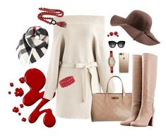 """""""Add a splash of red"""" by sally-taylor-winter on Polyvore featuring Louis Vuitton, L'Autre Chose, Gucci, Casetify, Burberry, N'Damus, Ross-Simons, Jean Patou and Bling Jewelry"""