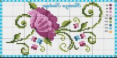 Here you can look and cross-stitch your own flowers. Celtic Cross Stitch, Tiny Cross Stitch, Cross Stitch Borders, Cross Stitch Flowers, Cross Stitch Designs, Cross Stitching, Cross Stitch Embroidery, Embroidery Patterns, Hand Embroidery
