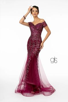 Sweetheart Neckline Glitter Mesh Long Prom Dress   The Dress Outlet