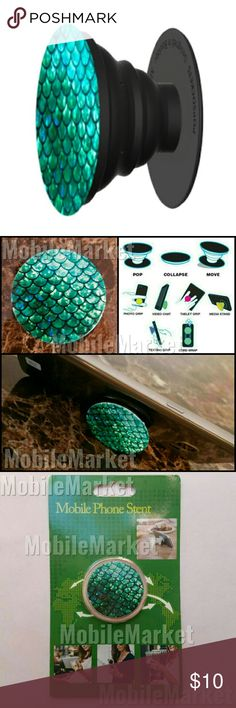 Mobile phone grip/stand mermaid *this is an individual listing for 1 phone stand, color is according to first picture*  Pop, tilt, wrap, grip, collapse, repeat! Mobile phone stent like a pop socket (popsocket). Have a secure grip while calling, taking selfies, and texting. Use as a phone stand, portrait and landscape mode. and even to wrap your headphones around and prevent tangles and knots!! Retail packaging makes it the perfect gift! Accessories