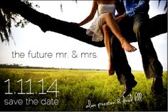Postcardsize photo save the date by ConceptionGraphique on Etsy, $50 for 100