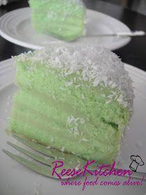 ReeseKitchen: Cakes for him.....Pandan Layered Cake & Tiramisu