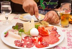 A delicious antipasti for lunch in Subiaco, Italy