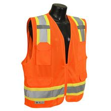 Radians Two Tone Surveyor Class 2 Safety Vest, Large, Orange Size: Large Color: Orange, Model: Tools & Hardware store - BuyGardens T Shirts With Sayings, Sweater Weather, Orange Color, Work Wear, Cool Things To Buy, How To Make, How To Wear, Safety, Knights