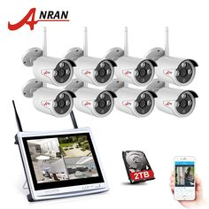 """354.24$  Buy here - http://alirkc.shopchina.info/go.php?t=32803854391 - """"ANRAN 2017 NEW 8CH Wireless Surveillance System 12""""""""LCD Screen Wifi NVR 720P HD H.264 Outdoor Night Vision Security Camera Sys""""  #aliexpress"""