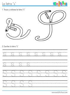 ficha aprender letra S