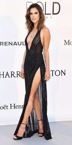 See All the Dazzling Looks from amfAR's 2016 Cinema Against Aids Gala in Cannes - Alessandra Ambrosio from InStyle.com