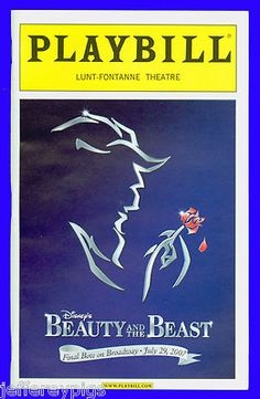 Closing Night Playbill. I Would LOVE To Go And See This.