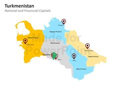 Turkmenistan Map: Editable PowerPoint Maps