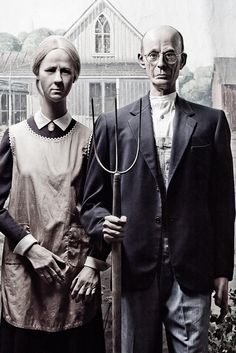 American Gothic At The Wax Museum Fishermans Wharf In San Francisco CA