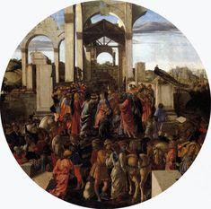 Sandro Botticelli (Alessandro di Mariano di Vanni Filipepi) (1445 – 1510)  Adoration of the Magi  Tempera on panel, 1470-1475  diameter 131,5 cm  National Gallery, London, United Kingdom
