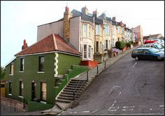 Vale Street: Bristol by Canis Major, via Flickr    Reputed to be the steepest hill in Europe open to motor vehicles!