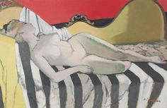 Maurice Brianchon (1899-1979, French), Nu couché (Reclining Nude), Oil on canvas, 61 x 94 cm.
