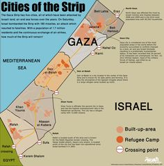 Info-graphic: Cities of the Strip - Mapping Gaza's cities and Israeli attacks. (Design by Farwa Rizwan/ Al Arabiya English) Per Capita Income, Communication Networks, Gaza Strip, Cultura General, Israel Palestine, Cartography, Studyblr, Over The Years, Teaching