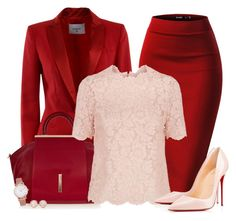 """""""Bottom Series 5/6: Pencil Skirt *OUTFIT ONLY!* - Contest!"""" by asia-12 ❤ liked on Polyvore featuring Dondup, Raoul, Valentino, Christian Louboutin, Larsson & Jennings and Monica Vinader"""