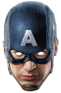 6aa07653a98 Starstills.com - Captain America Avengers Age of Ultron Single Card Party Face  Mask