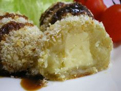 Non-fried Potato Croquettes with Cheese and Butter