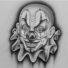 Clown I did for 4 the this year # clown Tattoo Design Drawings, Tattoo Sleeve Designs, Tattoo Sketches, Sleeve Tattoos, Evil Clown Tattoos, Skull Tattoos, Body Art Tattoos, Chicano Drawings, Chicano Art