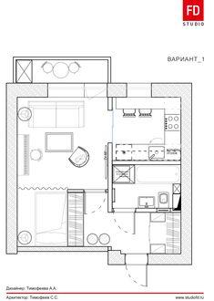 Фото из статьи: Три необычных варианта перепланировки однокомнатной квартиры площадь 33 метра