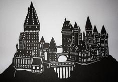 Hogwarts Castle Papercut