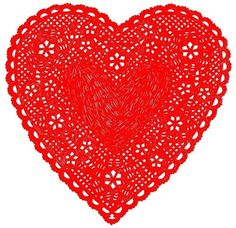 """Much Love Doily Print Red $28 13 x 19"""" - perfect for IKEA frame  #mother's day #gifts"""