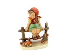 "Vintage Goebel Hummel Girl Sitting on a Fence - ""Just Resting"". £30.00, via Etsy PemmysEmporium"