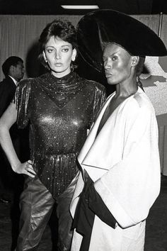 The most outrageous outfits in Grammys history: Grace Jones and Sarah Douglas, 1984