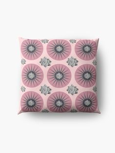 """""""Echeveria in Pink """" Floor Pillow by Mandsred1 