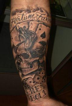 Skull Snake tattoo fortune